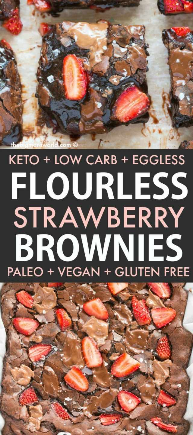 Easy chocolate covered strawberry brownies recipe are a keto and low carb dessert recipe ready in minutes!