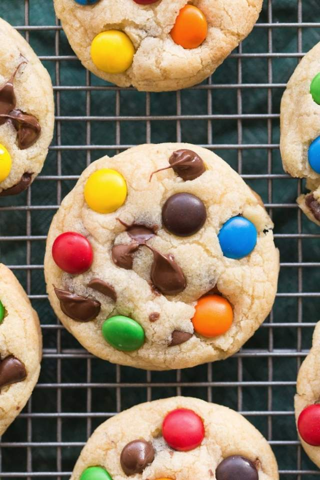 Healthy M and M Cookies Recipe made healthy! Vegan, gluten free and sugar free!