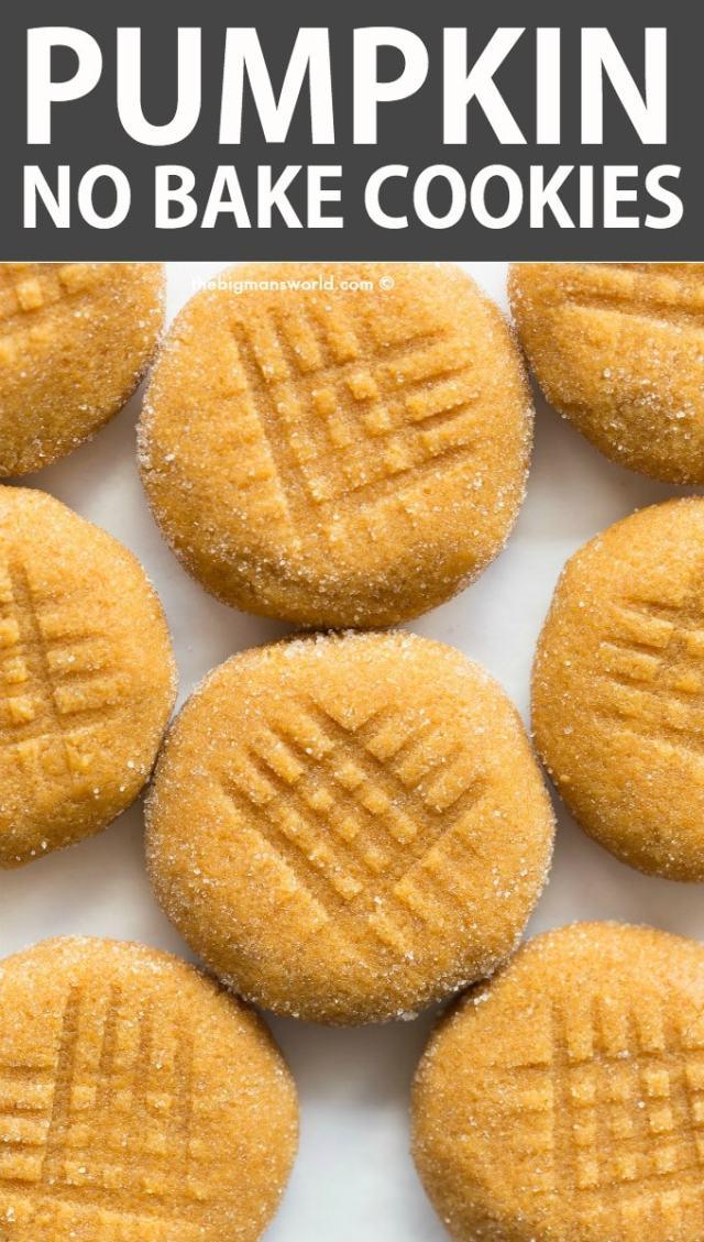 Pumpkin Spice No Bake Cookies Recipe that is paleo, vegan, gluten free, keto, sugar free.