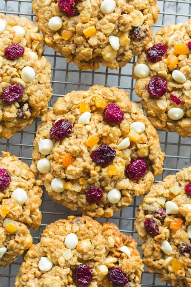 Gluten Free Flourless Oatmeal Cranberry Orange Cookies Recipe