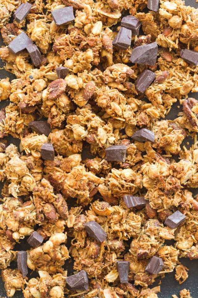 easy homemade keto and vegan granola clusters
