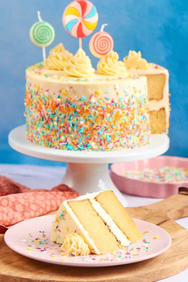 Keto Birthday Cake The Best Vanilla Cake The Big Man S World