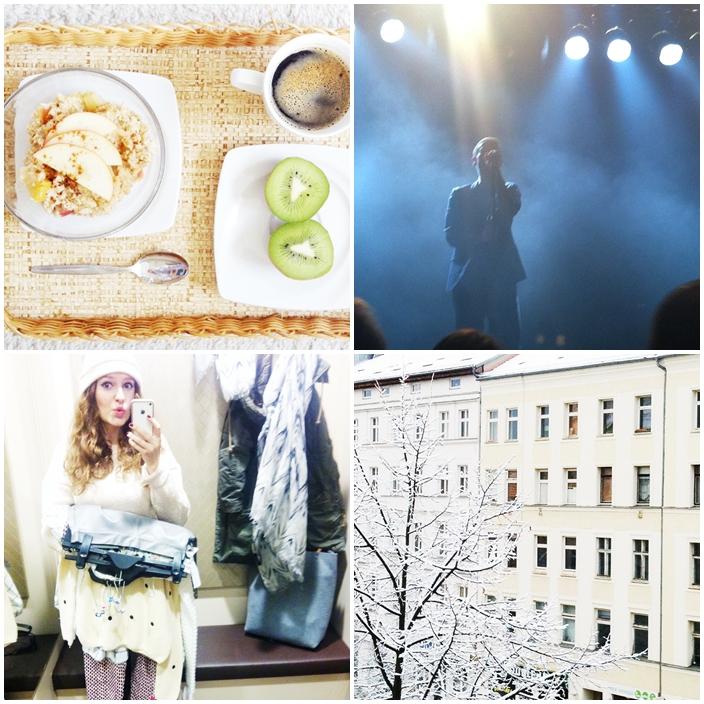 1| gesunder Start in eine neue Woche 2| Johnny Blake von Zoot Woman 3| gestern zu viel geshoppt 4| Berlin entzückt uns kurz als Winterwonderland