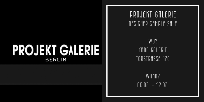 projekt galerie designer sample sale berlin