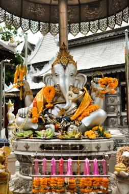 Chiang Mai Thailand Temple Silver Ganesha