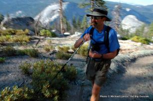 Mark Fenton on the JMT in Yosemite.