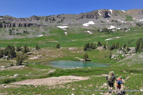 Sunset Lake, Teton Crest Trail