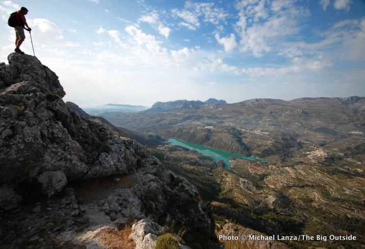 Above the Guadalest Valley, Aitana Mountains, Spain.