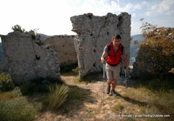 Castle ruins, Aitana Mountains, Spain.