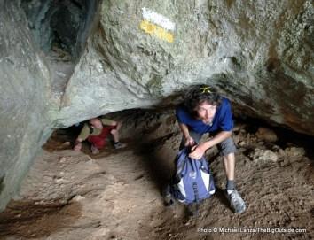 The cave at Bernia Ridge.