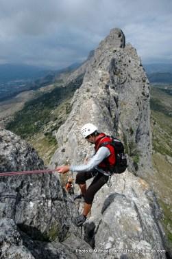 Scrambling Bernia Ridge.