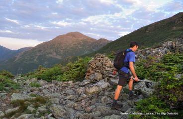 Hiking up Mount Madison.