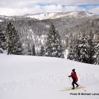Skiing the Summit Trail.
