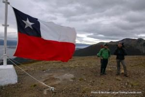"On Cerro Bandera, ""Flag Mountain."""