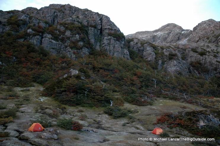 Campsite at Laguna del Salto.