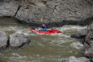 East Fork Owyhee River boulder jam.
