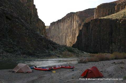 Campsite on the East Fork Owyhee River, in eastern Oregon.