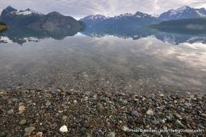 Ptarmigan Beach, West Arm, Glacier Bay.