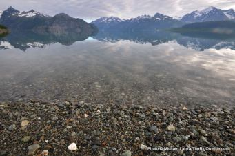 Ptarmigan Beach, West Arm, Glacier Bay.