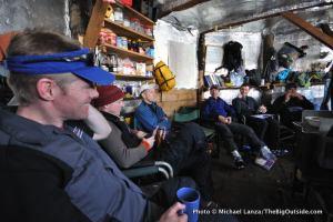 "Inside ""Yurtstar Gallactica,"" the yurt in Norway Basin, in Oregon's Wallowa Mountains."