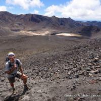 Stewart Barclay hiking Mt. Ngauruhoe.