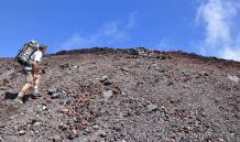 Stewart Barclay hiking Mt. Ngauruhoe