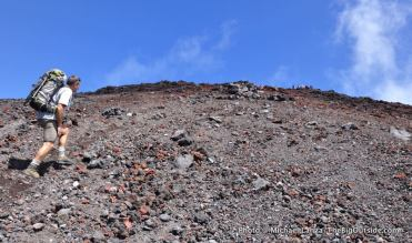 Stewart Barclay hiking Mt. Ngauruhoe