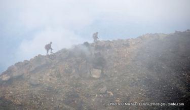 Hikers on Mt. Ngauruhoe