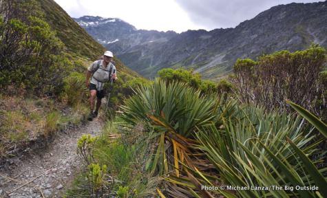 Hiking to Rees Saddle, Rees-Dart Track.