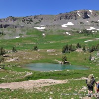 Teton Crest Trail, Sunset Lake.