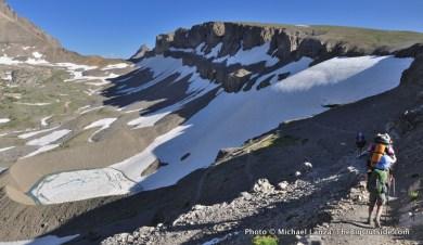 Above Schoolroom Glacier, Teton Crest Trail.