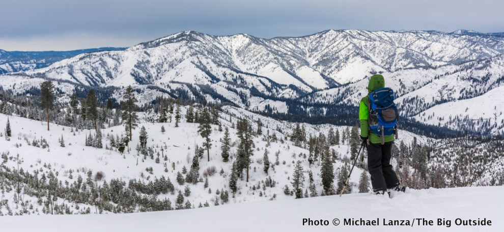 Backcountry skiing in Idaho's Boise National Forest.
