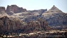Fern's Nipple from Navajo Knobs Trail, Capitol Reef.