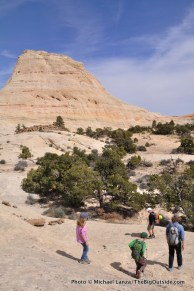 Off-trail below The Stegasaur.