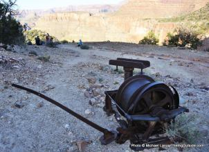Old mining equipment, Horseshoe Mesa.
