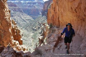 Todd Arndt during a 44.5-mile dayhike across the Grand Canyon and back.