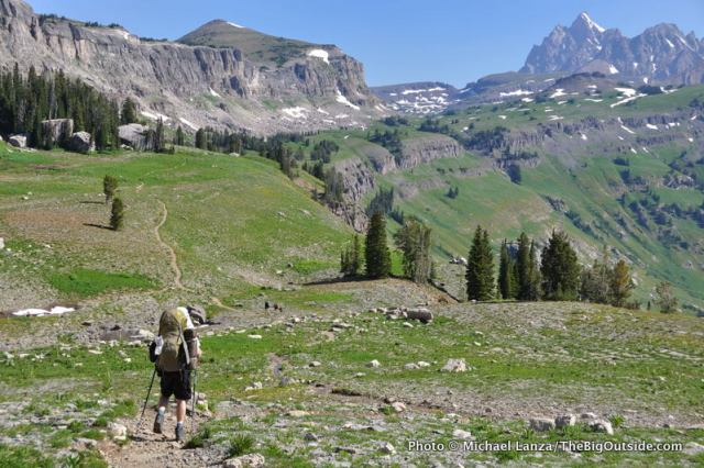 Teton Crest Trail, Death Canyon Shelf, Grand Teton National Park.
