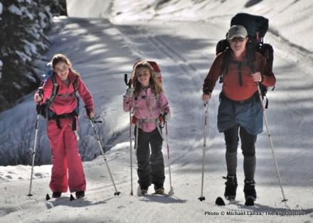 Skiing the Skyline Trail.
