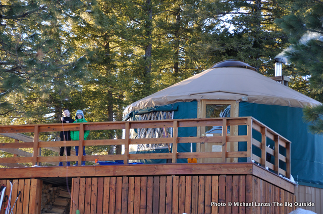 The Skyline yurt.