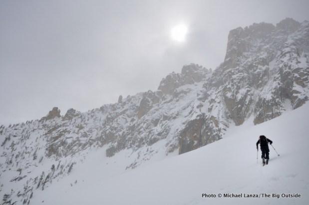 Below pass north of Mt. Heyburn.