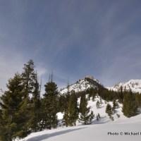 Skiing to Mt. Heyburn.