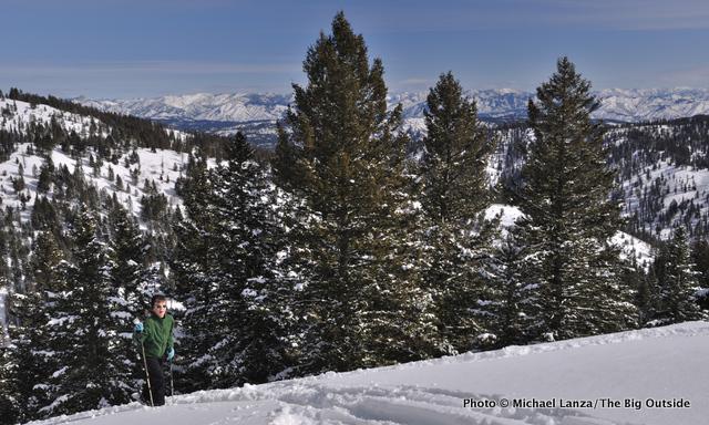 Nate climbing Freeman Peak, Boise Mountains, Idaho.