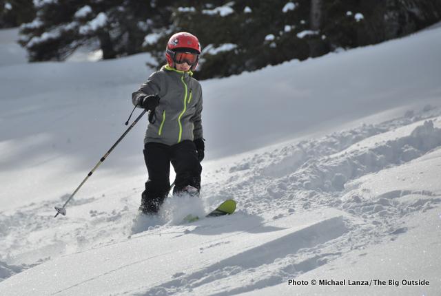 Nate skiing Freeman Peak, Boise Mountains, Idaho