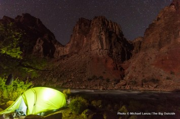 Campsite by Hance Rapids, Grand Canyon National Park.