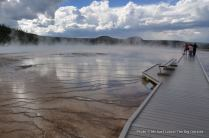 Grand Prismatic Spring in Yellowstone.