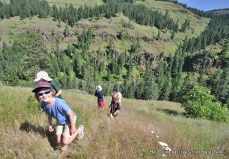 Hiking above the Grand Ronde River.