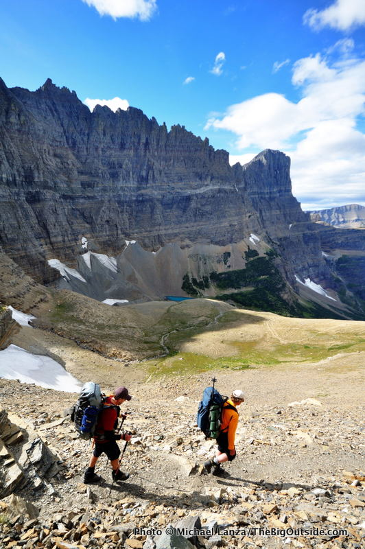 Backpackers, Piegan Pass Trail, Glacier National Park.
