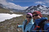 Trekking up the Langvatnet valley.