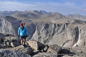 Shelli on 12,250-ft. Mt. Chauvenet