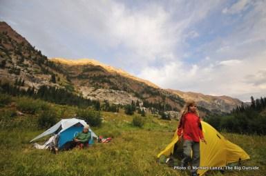 Camp on East Fork Eagle Creek, Eagle Cap Wilderness.